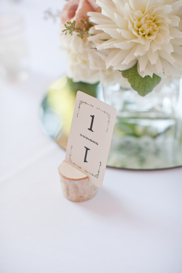 Romantic Vintage Wedding Table Number