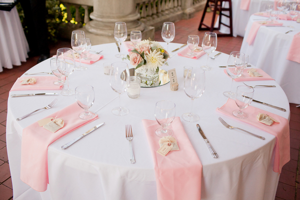 Romantic Vintage Wedding Table in Pink & White