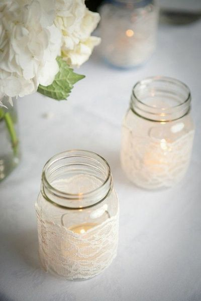 Simple Lace Mason Jars