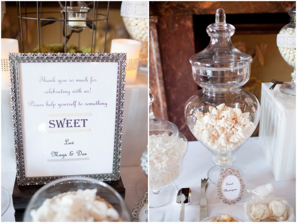 Sweets Buffet Table Vintage Wedding