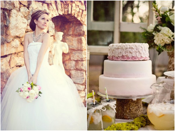 victorian inspired wedding cake Victorian Inspired Bridal Shoot by Alexia Wardell Photography