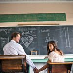 Engagement Shoot in Heritage Schoolhouse
