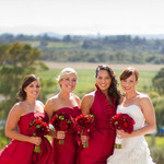 Napa Valley Red & White Wedding