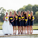 Bridesmaids at Maritime Wedding