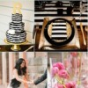 Modern Whimsical Wedding in Black, White, Gold & Pink