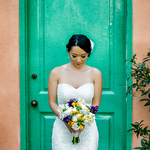 Yellow and Purple Wedding Theme in Redondo Beach California