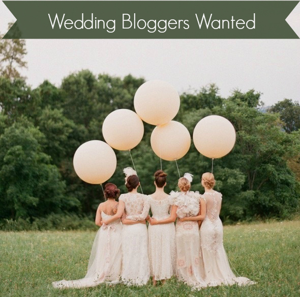 Wedding Blogger Wanted