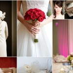 Red and Ivory Vintage Wedding Style