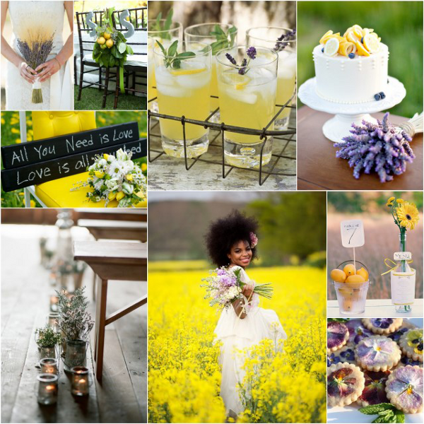 Wedding Ideas And Inspirations: Lemon And Lavender Boho Wedding Inspiration